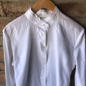 CLUB BEYMEN | White bandcollar pleat bib button up